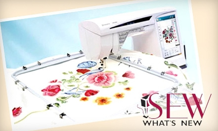 Sew What's New - Multiple Locations: $25 for $50 Worth of Fabric, Classes, and Machines at Sew What's New