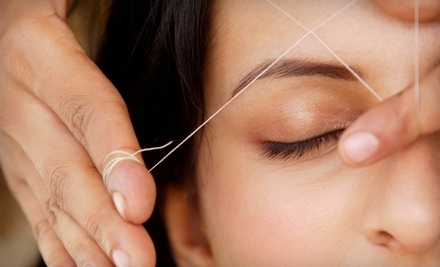3 Eyebrow Threading Sessions (a $30 value) - Glamour Beauty in Birmingham