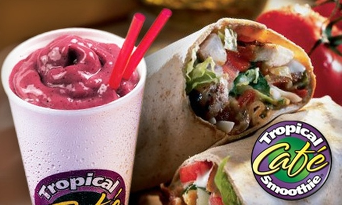 Tropical Smoothie - Multiple Locations: $5 for $10 Worth of Smoothies, Sandwiches, and More at Tropical Smoothie Café