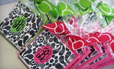 The Polka Dot Spot: Three Packs of Personalized Stationery  - The Polka Dot Spot in Pelham