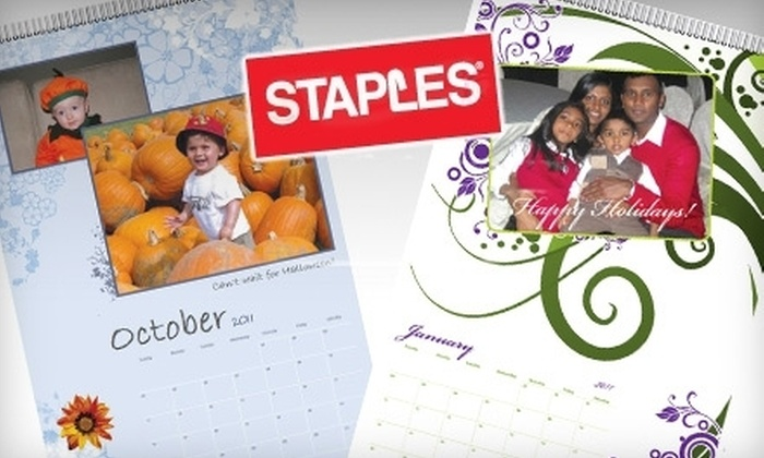 Staples Canada: $11 for a Customizable Classic Calendar from Staples Canada (up to $22.99 Value)