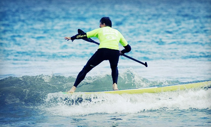 Peter Pan Surfing Academy - Providence: $45 for a One-Hour Group Standup Paddleboard Lesson for Two from Peter Pan Surfing Academy in Narragansett ($90 Value)