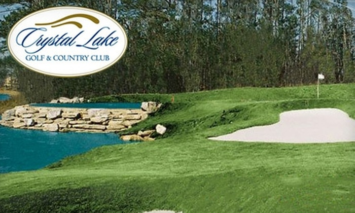 Crystal Lake Golf and Country Club - Multiple Locations: Full Round of Golf Plus Cart at Crystal Lake Golf and Country Club in Hampton or Eagle's Brooke Country Club in Locust Grove. Choose from Two Options.