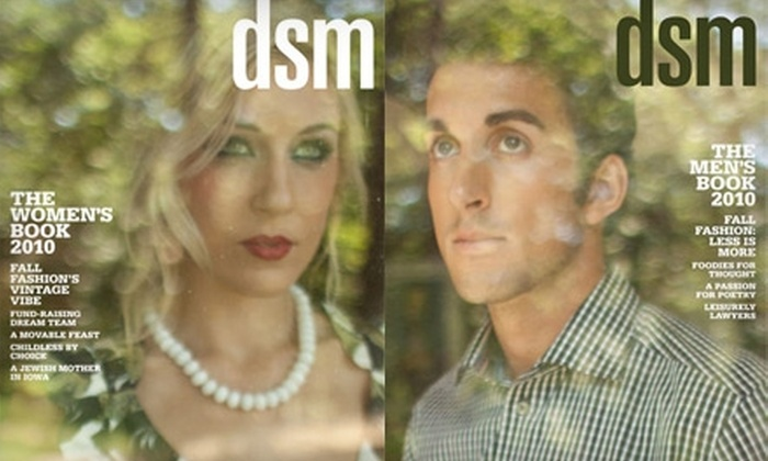 """""""DSM Magazine"""": $9 for a One-Year Subscription to """"DSM Magazine"""""""