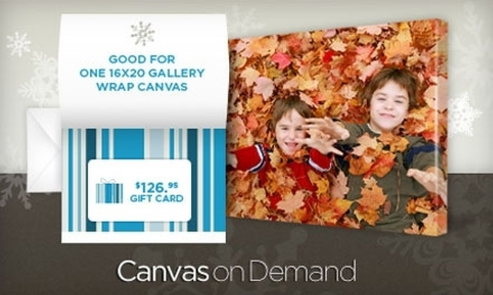"Canvas On Demand: $45 for One 16""x20"" Gallery-Wrapped Canvas Including Shipping & Handling (a $126.95 value) or a Gift Card worth $126.95"
