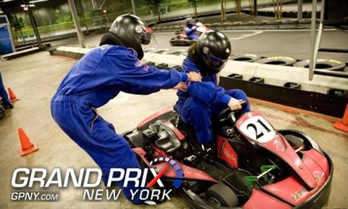 Grand Prix New York - Mount Kisco: Kart Racing, Meal, and Daily Membership Packages at Grand Prix New York. Choose Between Two Options.