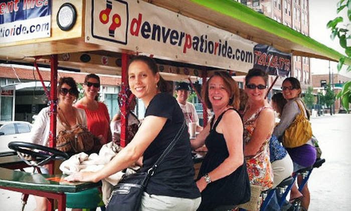 Denver Patio Ride - Five Points: Pub Crawls in a Pedal-Powered Bus from Denver Patio Ride (Up to 57% Off). Five Options Available.