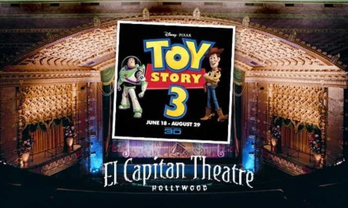"El Capitan Theatre - Hollywood: $20 for Two General-Admission Tickets for ""Toy Story 3"" in 3D & Fun Zone at El Capitan Theatre"