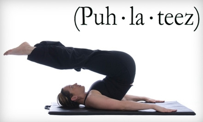 Puh-la-teez Pilates Studio - Fort Myers: $40 for One Private Session, One Group Equipment Class, and One Group Mat Class at Puh-la-teez Pilates Studio (Up to $80 Value)