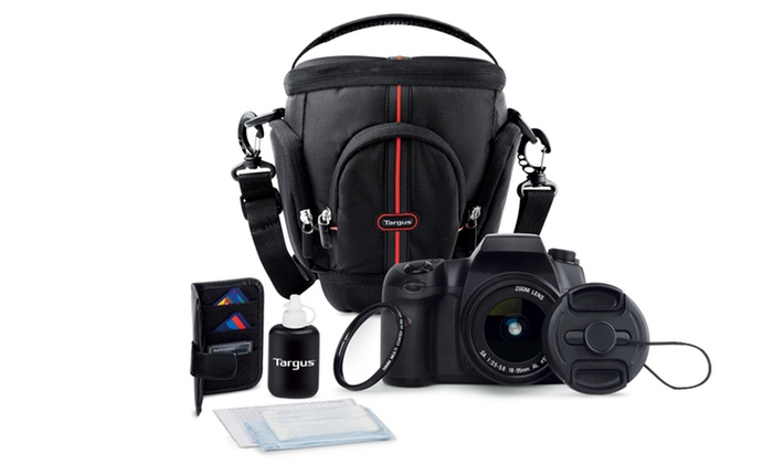 Targus DSLR Essentials 7-Piece Starter Kit: Targus DSLR Essentials 7-Piece Starter Kit with Camera Bag, 58mm UV Filter, Lens Cap Keeper, and More. Free Returns.