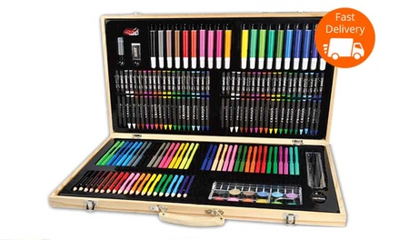 $29 for a Deluxe 180Piece Art Kit in a Wooden Box