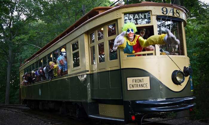 The Shore Line Trolley Museum - East Shore: Haunted Isle Trolley Ride for Two or Four at The Shore Line Trolley Museum (50% Off)