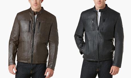 Kenneth Cole Men's Faux Leather Jacket 9008adc6-3c64-48da-9f23-6b8c0768dda6