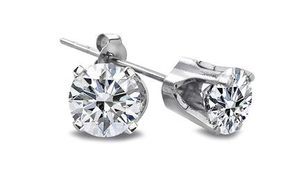 1/4 CTTW Diamond Stud Earrings in 14K Gold