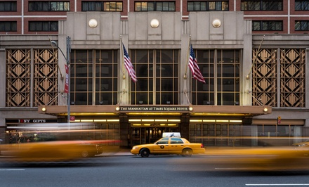 groupon daily deal - Stay at The Manhattan at Times Square Hotel, includes Free Grab n' Go Breakfast. Dates Available into April.