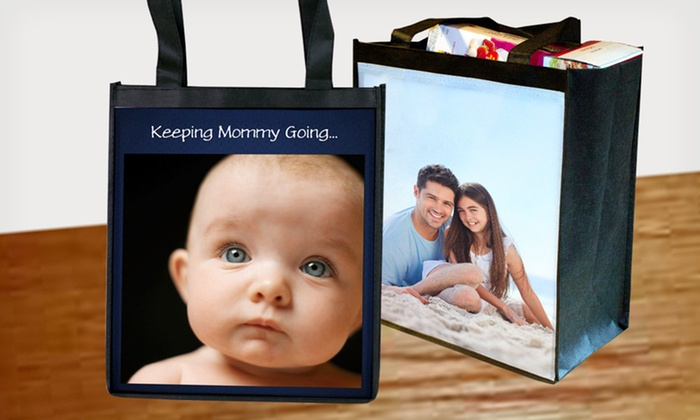 Personalized Reusable Grocery Bags: $14.99 for Two Personalized Reusable Grocery Bags from MailPix ($30 List Price). Free Shipping.