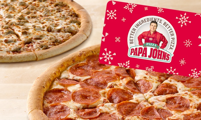Two Free Pizzas and $25 Voucher - Papa John's | Groupon