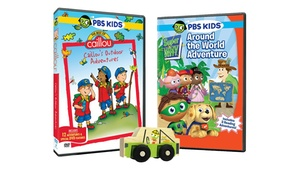 PBS Kids DVD-Toy Bundle: PBS Kids DVD-Toy Bundle: Super Why!, Caillou, and My Little Scoot Wooden Safari Toy