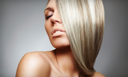 Haircut (up to a $32 value), Deep-Conditioning Treatment (a $12 value), and Full Highlights (a $98 value) - Shear Sensations in Howell