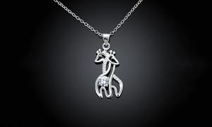 Jewelry Elements Giraffe Necklace Made with Swarovski Elements