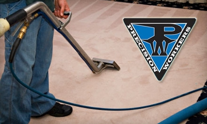 Precision Workers - Sailboat Bend: $45 for a Four-Room Carpet Steam Cleaning from Precision Workers