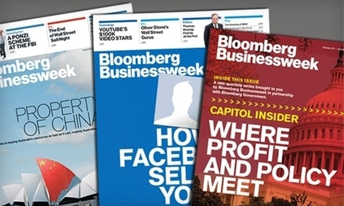 """""""Bloomberg Businessweek"""" - Jefferson: $19 for 50 Issues of """"Bloomberg Businessweek"""" ($40 Value)"""