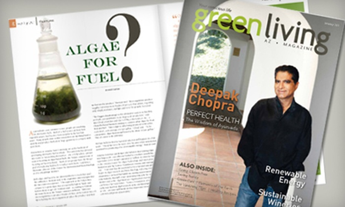 """Green Living AZ Magazine - Phoenix: One-Year Digital Subscription or One- or Two-Year Print Subscription to """"Green Living AZ"""" Magazine"""