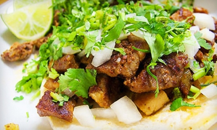 Taco Taxi Company - Multiple Locations: $49 for Catered Taco Bar for 10 People from Taco Taxi Company ($139.90 Value)