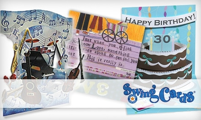 SwingCardStore.com: $20 for $40 Worth of 3-D Greeting Cards from SwingCardStore.com