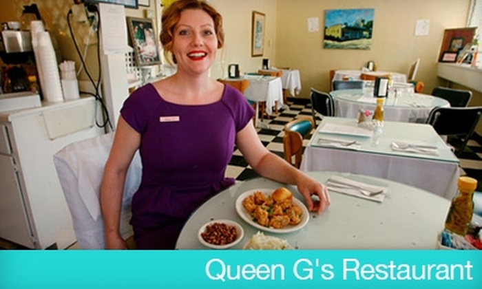 Queen G's Café - Park Place: $6 for $12 Worth of Local Seafood, Homemade Desserts, and More at Queen G's Café