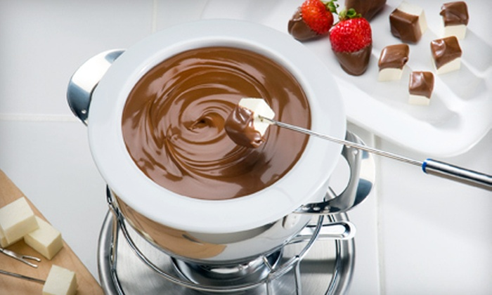 Disiac Lounge - Clinton: Cheese or Chocolate Fondue and Sangria or Wine at Disiac Lounge (Up to 52% Off). Two Options Available.