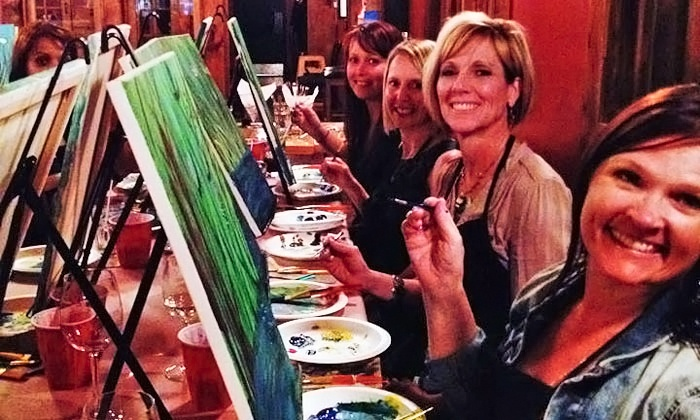 Spirits and Splatters - Toronto, GTA: 2.5-Hour Painting Party for One or Two from Spirits and Splatters (Up to 44% Off)