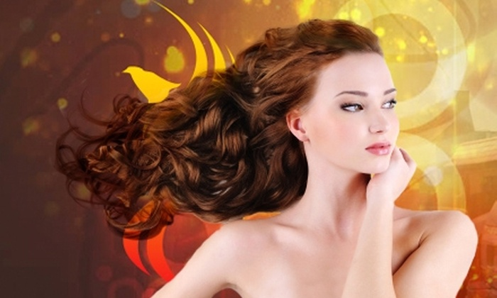 Salon Phoenix - Indian Moon: $39 for Haircut, Deep Condition, and Choice of Brow or Lip Wax at Salon Phoenix (Up to $87 Value)