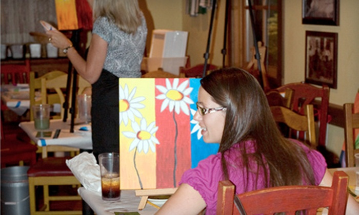 The Spirited Canvas - Tulsa: $17 for a Painting Session from The Spirited Canvas ($35 Value)