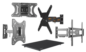 "Emerald Tilt, Fixed, or Full-Motion Wall Mounts for Most 10""–72"" TVs"