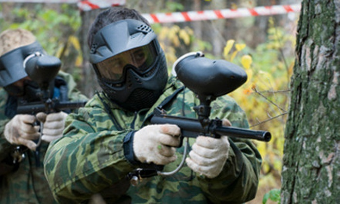 XTreme Kombat - Durham: All-Day Paintball Outing with Equipment and Unlimited Air Refills for One or Two at Xtreme Kombat in Durham (Up to 61% Off)
