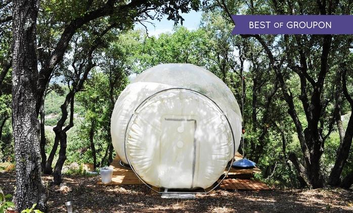 Proche Montpellier:1 nuit en hébergement insolite, bulle ou dôme, avec parcours ludique à l'Astronarium pour 2 personnes