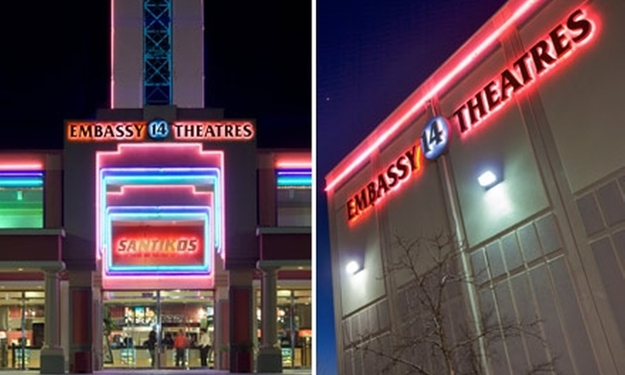 Santikos Movie Theaters - Northeast San Antonio: $9 for Two General-Admission Tickets to Santikos Embassy 14 Theatres (Up to $18 Value)