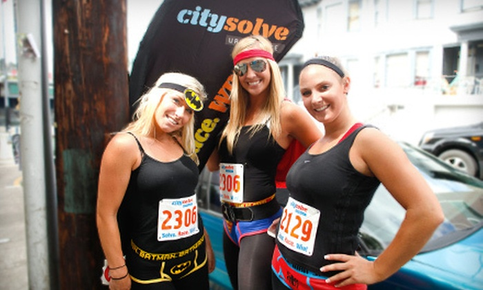 CitySolve Urban Race - Multiple Locations: Brain-Teaser Race Entry for One, Two, or Four on March 24 (Up to 62% Off)
