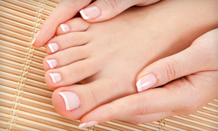 The Ridgefield Salon & Spa - Ridgefield: Classic, Spa, or Shellac Mani-Pedi at The Ridgefield Salon & Spa (Up to 51% Off)