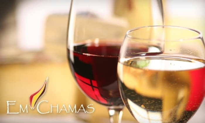 Em Chamas - Multiple Locations: $60 for Three-Month Classic Wine-Club Membership to Em Chamas ($120 Value)