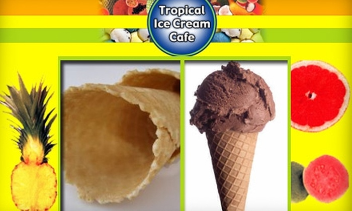 Tropical Ice Cream Cafe - Silver Spring: $6 for Two Double-Scoop Cones at Tropical Ice Cream Cafe