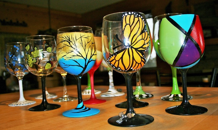 Old Paint Bar - Evergreen West: BYOB Wine Glass, Canvas, or Wood Panel Painting Class for Two or Four at Old Paint Bar (Up to 51% Off)
