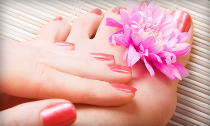 Cuticle Corner Nail & Spa - Middletown: One or Two Basic Manicures and Hot-Stone Pedicures at Cuticle Corner Nail & Spa (Up to 54% Off)
