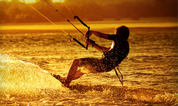 Skybanditz - Oceanfront: Kite-Boarding Lesson or Standup Paddleboard Rental at Skybanditz. Three Options Available.