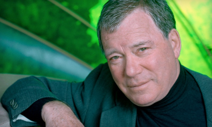 """""""How Time Flies: An Evening with William Shatner"""" - Downtown: One Ticket to """"How Time Flies: An Evening with William Shatner"""" at Shaw Conference Centre. Four Options Available."""