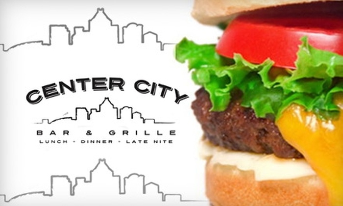 Center City Bar & Grille - Downtown: $9 for $18 Worth of High-End Pub Fare at Center City Bar & Grille