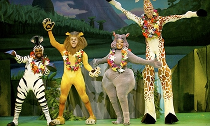 "$25 for One Ticket to ""Madagascar Live!"" at the Rosemont Theatre (Up to $49.30 Value). Five Dates Available."