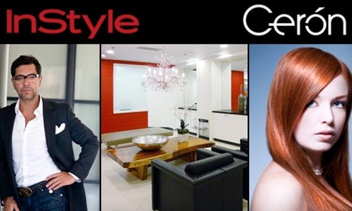 Cerón Salon - Downtown Dallas: $140 for a Haircut, Blow Dry, Mani-Pedi, and Facial at Cerón Salon ($280 Value)