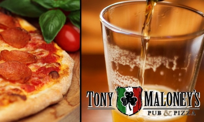Tony Maloney's Pub and Pizza - North Royalton: $15 for $30 Worth of Pizza, Subs, Burgers, and More at Tony Maloney's Pub and Pizza
